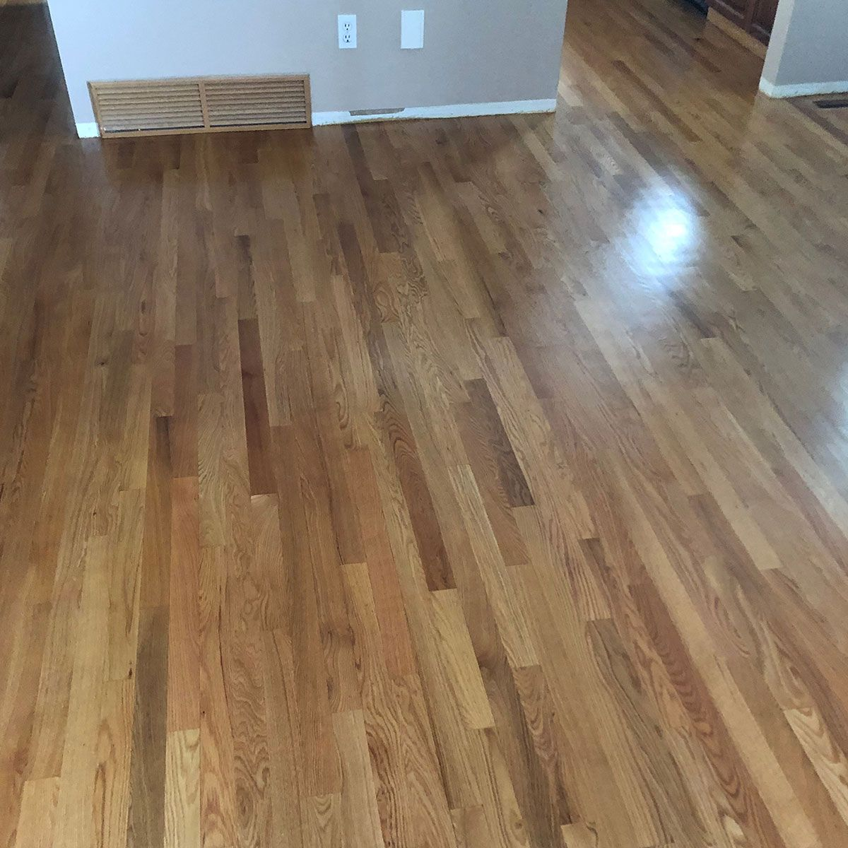 top view of a laminate flooring
